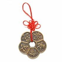 Moneda in forma de floare de prun, Remediu Feng Shui pentru bunastare, longevitate, sanatate si prosperitate
