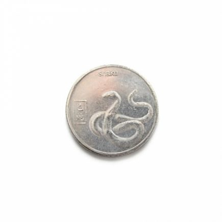 Talisman argintiu cu zodia sarpelui, horoscop Chinezesc, remediu Feng Shui pentru bunastare si protectie
