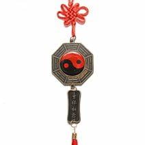 Oglinda Ba Gua cu 12 zodii si monede, Remediu Feng Shui pentru protectie si bunastare