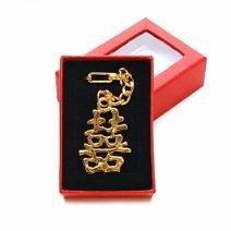 Breloc cu simbolul dubla fericire, Remediu Feng Shui pentru dragoste, cuplu si casatorie