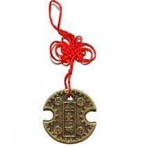 Amuleta cu moneda pentru avere si noroc-Lacatul Banilor sau moneda de incuiere a banilor, remediu Feng Shui pentru bani, bunastare si prosperitatea