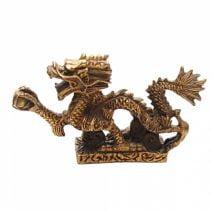 Dragonul Imperial cu perla din bronz, Remediu Feng Shui pentru protectie, cariera si noroc