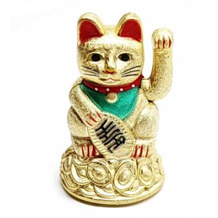 Pisica norocoasa Maneki Neko aurie, Remediu Feng Shui pentru atractia prospeitatii si bunastarii