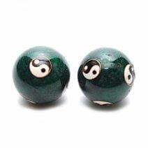 Bile pentru relaxare verzi cu Yin si Yang (Baoding), Remediu Feng Shui pentru sanatate si relaxare