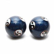 Bile pentru relaxare albastre cu Yin si Yang (Baoding), Remediu Feng Shui pentru sanatate si relaxare