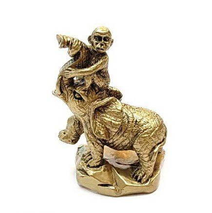 Maimuta calare pe elefant, Remediu Feng Shui pentru cariera, loc de munca, job