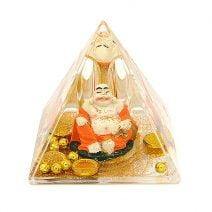 Piramida Feng Shui - Buddha cu sacul abundentei, remediu Feng Shui pentru bani si prosperitate