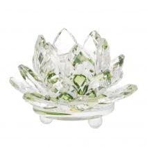 Floare de lotus verde din cristal