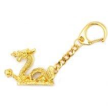 Breloc auriu cu dragonul norocos, Remediu Feng Shui pentru bunastare si noroc