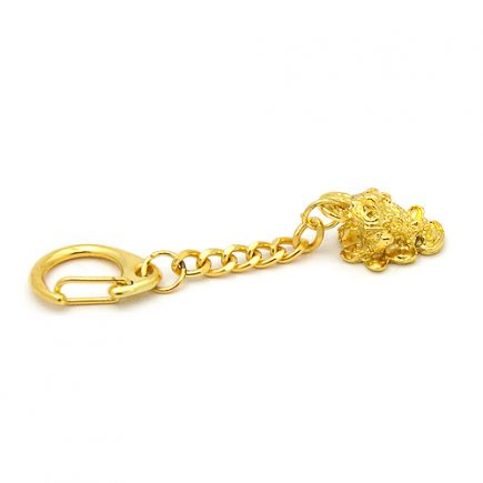 Breloc auriu cu broasca raioasa, Remediu Feng Shui pentru abundeta si prosperitate