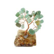 Copacel cu aventurin pe suport de piatra, Remediu Feng Shui pentru bunastare