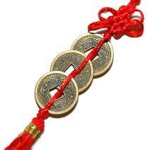 Trei monede cu nod mistic, Remediu Feng Shui pentru protectie si prosperitate