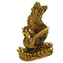 Pasarea Phoenix aurie din rasina, Remediu Feng Shui pentru bunastare