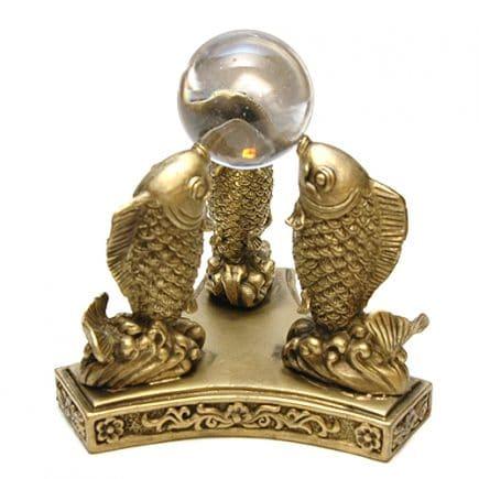 Trei crapi norocosi cu sfera din cristal, Remediu Feng Shui pentru bunastare si prosperitate