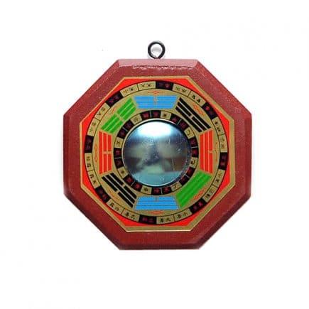 Oglinda Ba Gua convexa mica, Remediu Feng Shui pentru bunastare si echilibrare