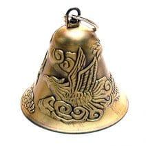 Clopotel auriu cu dragon si pheonix, Remediu Feng Shui pentru noroc pe toate planurile