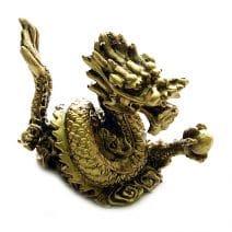 Pereche de dragoni aurii Feng Shui, Remediu Feng Shui pentru noroc si prosperitate.