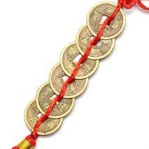 Sirag cu sase monede I-Ching, Remediu Feng Shui pentru bani, noroc si prosperitate.