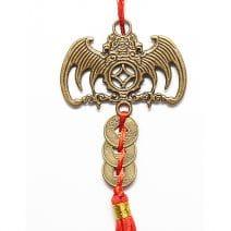 Amuleta cu liliac si monede, remediu Feng Shui pentru bani si prosperitate
