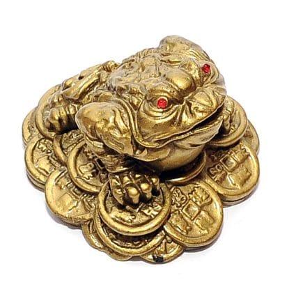 Broasca norocoasa pe monede, remediu Feng Shui pentru bani, bunastare si prosperitate
