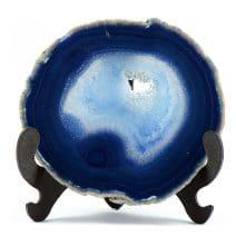 Geoda din cristal natural de agat albastru