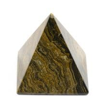 Piramida mare din cristal natural de jasp, finisat si fatetat