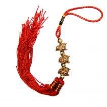 Amuleta cu trei broscute norocoase aurii