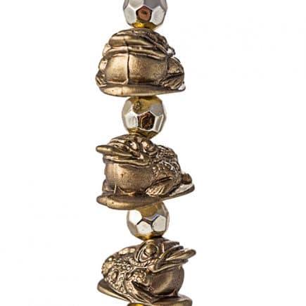 Amuleta cu cinci broscute norocoase aurii, remediu Feng Shui pentru remediu Feng Shui pentru abundenta si prosperitate