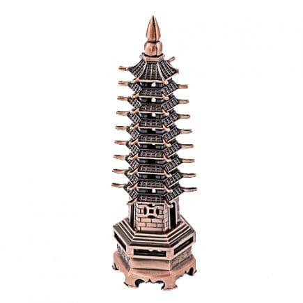 Pagoda celor noua nivele din metal, remediu Feng Shui pentru cariera, sanatate, protectie, studii, educatie, invatatura