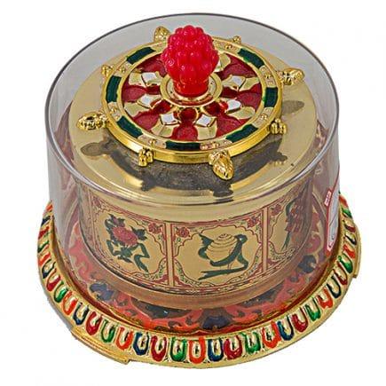 Roata dorintelor Tibetana cu cele 8 obiecte norocoase, remediu Feng Shui pentru bunastare si noroc