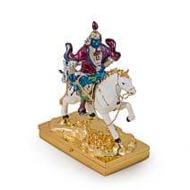 Caseta de bijuterii-Lord Kubera pe Cal de vant Lung Ta, remediu Feng Shui pentru bogatie si prosperitate