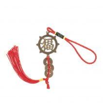 Amuleta Feng Shui cu Ideograma Norocului impotriva accidentelo