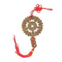 Amuleta cu 5 Lilieci si Moneda pentru Noroc