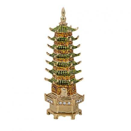 Pagoda celor sapte nivele din rasina colorata, remediu Feng Shui pentru bunastare