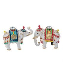 Pereche Elefanti cu Nestemata, caseta bijuterii, remediu Feng Shui pentru noroc si prosperitate