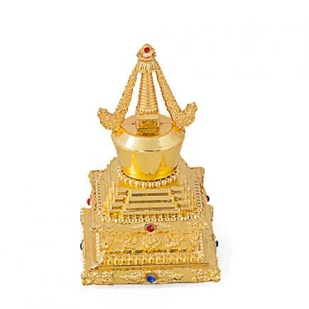 Stupa Tibetana cu simbolul pamantului, remediu Feng Shui pentru noroc
