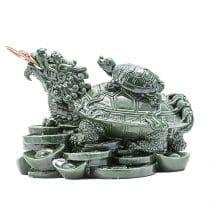 Testoasa Dragon cu Moneda, remediu Feng Shui pentru bunastare si longevitate
