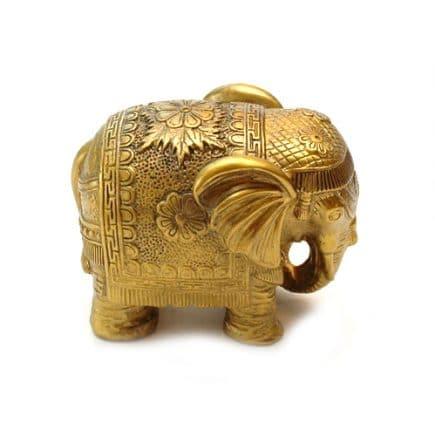 Elefant auriu Feng Shui, mare, remediu Feng Shui pentru bunastare