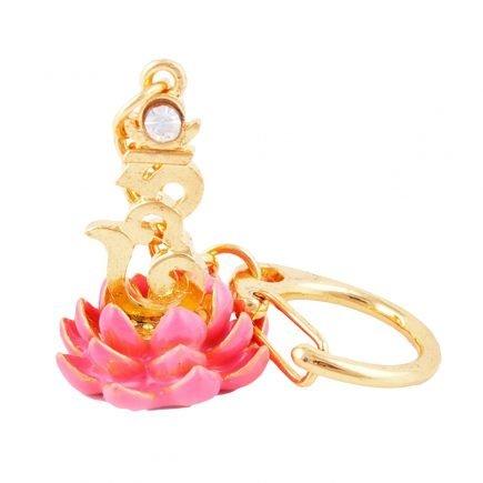 Amuleta cu Silaba HUM pe Floare de Lotus