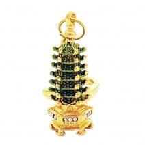 Breloc cu Pagoda Succesului cu 7 nivele, remediu Feng Shui pentru bunastare si steaua 5