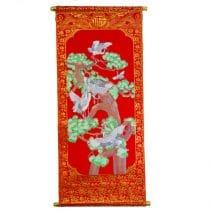 Stampa cu copacul dorintelor si cocori, remediu Feng Shui pentru dragoste si casatorie
