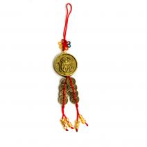 Amuleta de protectie cu maimuta si Yin Yang, remediu Feng Shui pentru bunastare