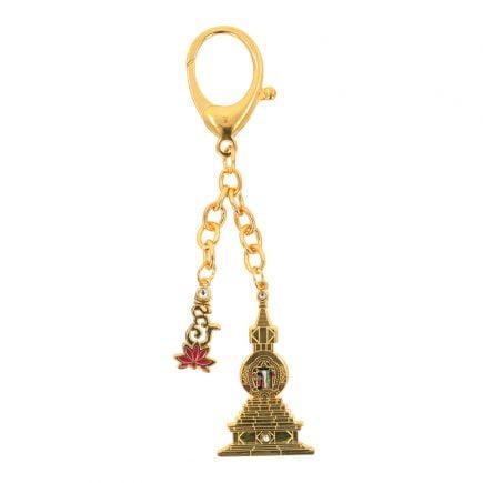 Amuleta cu Stupa Kalachakra si Silaba Hum pe Lotus