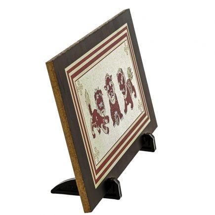 Placheta ( placa ) cu cei trei gardieni celesti, cei trei lei sau cei trei gardieni divini (1)