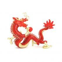 Amuleta cu Dragon Rosu cu bila de foc, impotriva conflictelor-0