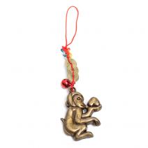 Amuleta de protectie cu maimuta cu piersica-0