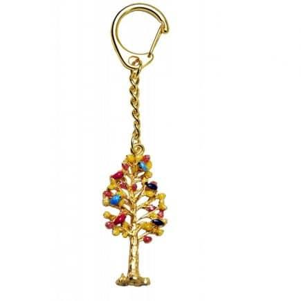 Amuleta cu Copacul Prosperitatii cu pasari, remediu Feng Shui pentru noroc