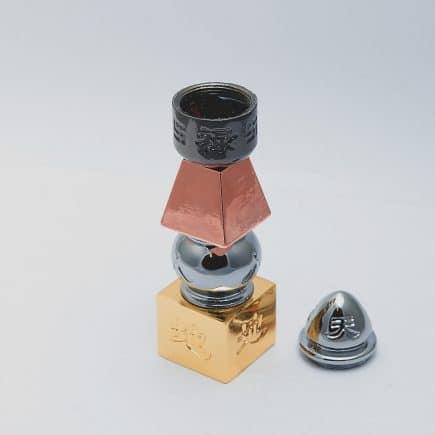 Pagoda celor cinci elemente, din metal, remediul Feng Shui pentru sanatate si familie