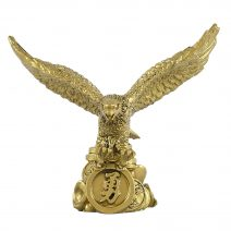 Vultur Feng Shui pe pepita si monede