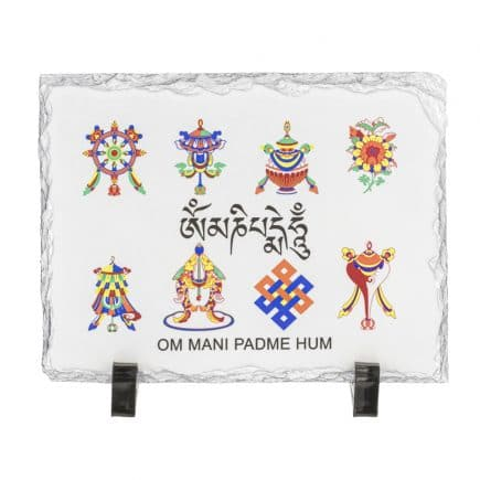 Placheta ( placa ) cu cele 8 simboluri tibetane-0